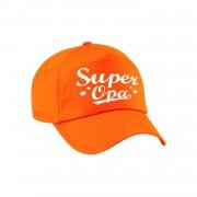 Bellatio Decorations Super opa cadeau pet /cap oranje voor volwassenen