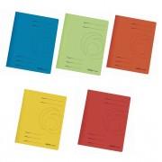Dosar carton color cu sina Herlitz albastru