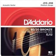 D'addario EJ12 80/20 Bronze Medium [13-56]