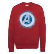 Marvel Sudadera Marvel Los Vengadores Logo Avengers Brillante - Hombre - Rojo - S - Rojo