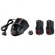 Комплект 2 x акумулаторна батерия GBA 12 V 2,0 Ah + зарядно GAL 1230 CV Professional, 1600A002X1, BOSCH