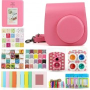 Accesoriu foto-video loveinstant Set 7in1 album + Case + cadru + Filtre Fujifilm Instax Mini 8/9 - roz