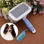 Pet Dog Handle Grip Shedding Revolved Brush Pin Hair Fur Comb Grooming Trimmer