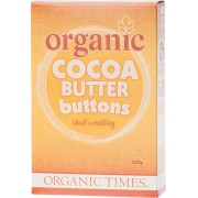 Organic Cocoa Butter Buttons 200g