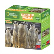 National Geographic Kids 3D puzzle merkat 150 kom
