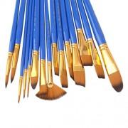 ELECTROPRIME® Art Paint Brush Set 15 Pc Watercolor Painting Brushes Professional Artist