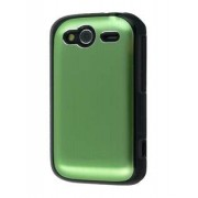 HTC Wildfire S Brushed Aluminium Case - HTC Hard Case (Lime Green)