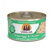 Weruva Green Eggs & Chicken with Chicken, Egg & Greens in Gravy Grain-Free Canned Cat Food, 3-oz, case of 24