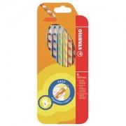 STABILO International GmbH STABILO® Easycolors Buntstift, für Linkshänder, Dreikant Farbstift mit rutschfesten Griffzonen, 1 Packung = 6 Stück, farbig sortiert