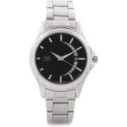Q&Q Quartz Black Round Men Watch 100A436-202Y