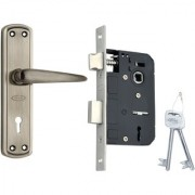 SPIDER Steel Mortice Key Lock Complete Set With Antique Black Finish (S811MAL + RML4 )