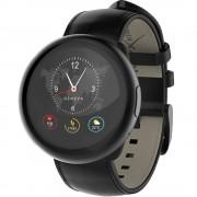 Smartwatch MyKronoz ZeRound 2 HR Premium Negru si curea piele Neagra