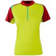 La Sportiva Forward Hardloopshirt korte mouwen Dames geel/rood M 2017 Hardloopshirts