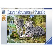 Puzzle Tigri albi, 500 piese
