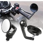 Motorcycle Rear View Mirrors Handlebar Bar End Mirrors ROUND FOR PULSAR RS 200