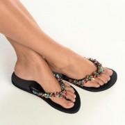 Uzurii glamour-slippers, 37/38 - zwart/dessin