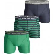 Björn Borg Shorts 3er-Pack Solid Stripe - Dunkelblau XL