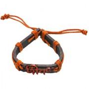 Sullery Lord Shiv Trishul Leather Bracelet