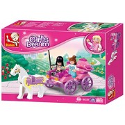 Sluban M38-B0239 Pink Dream Princess Horse Carriage Building Block Set, Multi Colour