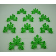 Lego Plants: 10 Bright Green Tree Leaves