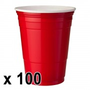 StudyShop 100 st. Red Cups Röda Muggar (16 Oz.)