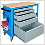 Pojazdný stôl 100 x 96 x 50 cm so zásuvkami 5Z 28