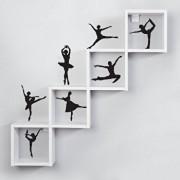 Sticker decorativ de perete Sticky, 260CKY1063, Negru