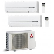 Mitsubishi Electric Dual Split Inverter Serie Sf 9000+9000 Con Mxz-2d53va