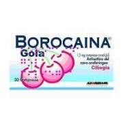 Alfasigma Spa Borocaina Gola 1,5 Mg Compresse Orosolubili Gusto Ciliegia 20 Compresse