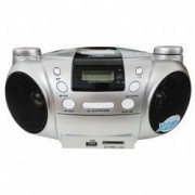 Sistem audio Fervent cu DVD/CD player FM/AM radio USB / SD / MMC / MS card Ecran LCD Telecomanda Argintiu