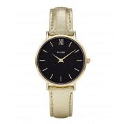 CLUSE Horloges Minuit Gold Black Goudkleurig