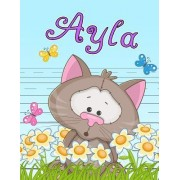 Ayla: Personalized Book with Child's Name, Primary Writing Tablet for Kids, 65 Sheets of Practice Paper, 1 Ruling, Preschool