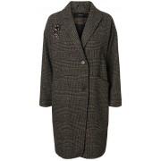 Vero Moda Palton pentru femei North 3/4 Jacket Peat Black Check W.Two Trims S