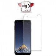 ECellStreet Pack of 3 Tempered Glass Screenguard for Karbonn A6 Turbo Mobile Screen Guard Scratch Protector
