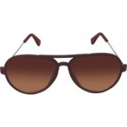 SPY RAYS COLLECTION Aviator Sunglasses(Brown)