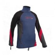 Uv tröja långärmad barn rashguard blå/röd - Gul (Storlek: 116 cl)