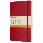 Moleskine Taccuino large a righe copertina morbida rosso. Scarlet Red