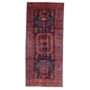 Handknuten. Ursprung: Persia / Iran Kurdi Matta 136X308 Äkta Orientalisk Handknuten Hallmatta Mörklila/Mörkröd (Ull, Persien/Iran)