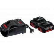 Комплект акумулатори стартов - 2 x GBA 18V 5,0 Ah + GAL 1880 CV, 1600A00B8J, BOSCH