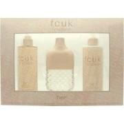 FCUK Friction Her Presentset 100ml EDT + 250ml Body Lotion + 250ml Fragrance Mist