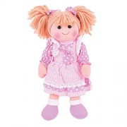 Bigjigs Toys 13 inch Anna Doll - Soft Body Plush Toy Doll with Hair and Outfit