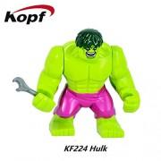 Generic Super Heroes Thor Ragnarok 76088 Hulk 7cm Big Size Grandmaster Loki Building Blocks Bricks Toys for Children XH 654 KF224
