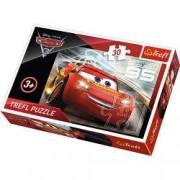 Jucarie Puzzle Cars Lighting Mc Queen 30 pcs 18215 Trefl