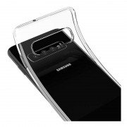 Capa silicone transparente Samsung Galaxy S10 Plus