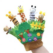 [Forest&Animals] Finger Puppets Hand Puppets Story Telling Puppets for Kids 0-3Y