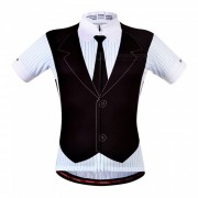 WOSAWE BC297 hombres de manga corta ciclismo ropa deportiva? blusa de MTD bicicleta de carretera de secado rapido jersey - negro (XXL)