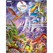 Set 2 Puzzle-uri Dragoni Larsen, 28 piese