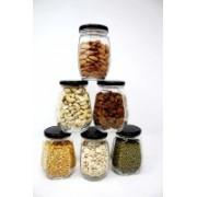 wow n now Dry Fruit Storage Glass Jar-6 PCS Mixer Jar Lid