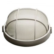Lampa exterior rotunda cu grila E27 100W alb