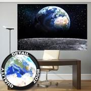 ART Luna vista a tierra XXL Mural de la ventana a la tierra Póster